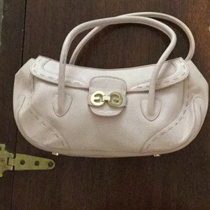 Escada light pink pebbled leather bag